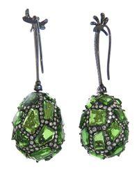 Arunashi - Green Tsavorite Stone Earring - Lyst
