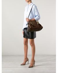 Chloé | Brown Paraty Python Skin Shoulder Bag | Lyst