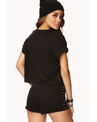 Forever 21 | Black D.A.R.E® Cropped Tee | Lyst
