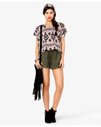 Forever 21 - Brown Relaxed Southwestern Dolman Top - Lyst