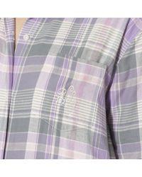 Lauren by Ralph Lauren - Purple Plaid Twill Pajama Set - Lyst