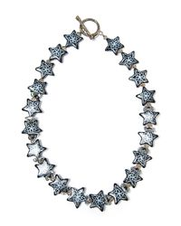 Shebee - Black The All Star Design Necklace - Lyst