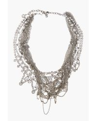 Tom Binns - Metallic Silver Tangled Chain Fettered Faux Necklace - Lyst