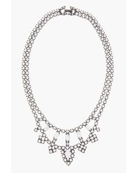 Tom Binns - White Painted Crystal Carte Blanche Necklace - Lyst