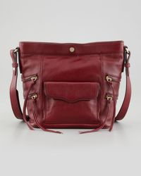 Rebecca Minkoff | Red Dexter Leather Bucket Bag Port | Lyst