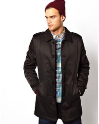ASOS - Black Selected Trench Coat for Men - Lyst
