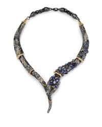 Alexis Bittar | Multicolor Semiprecious Multistone Snake Necklace | Lyst