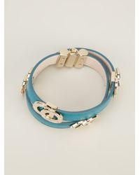 BVLGARI | Blue Logo Bracelet | Lyst