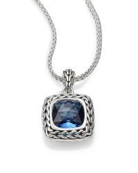 John Hardy | Metallic Classic Chain Sterling Silver Small Square Pendant Necklace | Lyst