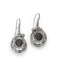 John Hardy | Metallic Naga Black Sapphire & Sterling Silver Dragon Drop Earrings | Lyst