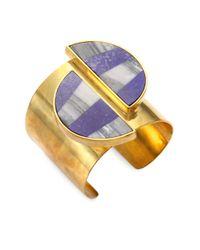 Kelly Wearstler - Metallic Marco Lapis Agate Cuff Bracelet - Lyst