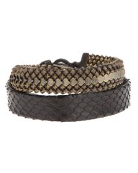 Laura B | Brown Double Strap Bracelet | Lyst