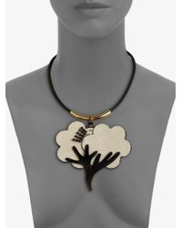 Marni - Metallic Tree Necklace - Lyst