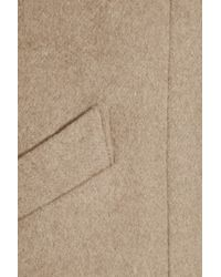 Mason by Michelle Mason   Beige Colorblock Wool and Cashmere Blend Coat   Lyst