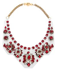 Shourouk - Red 'primavera' Necklace - Lyst