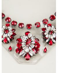 Shourouk | Red 'primavera' Necklace | Lyst