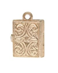 Annina Vogel - Metallic 9ct Gold Vintage Bible Charm - Lyst