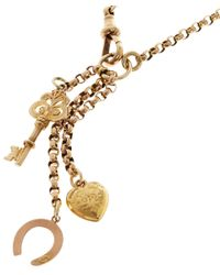 Annina Vogel | Yellow Love and Luck Short Signature Charm Necklace | Lyst