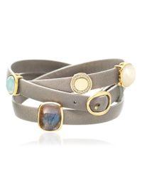 Astley Clarke | Gray Mushroom Four Charm Bolsena Bracelet | Lyst