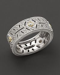 Judith Ripka | Metallic Estate Ring with White Sapphires | Lyst