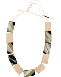Marni | Metallic Wood and Resin Necklace | Lyst