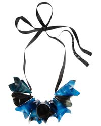 Marni | Blue Horn Necklace | Lyst