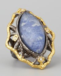 Alexis Bittar - Metallic Marquise Sodalite Ring - Lyst