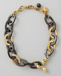 Ashley Pittman - Black Nyoka Snake Necklace Dark Horn - Lyst