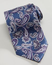 Brioni - Blue Floral Paisley Silk Tie Teal for Men - Lyst