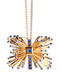Emanuel Ungaro | Metallic Butterfly Pendant Chain Necklace | Lyst