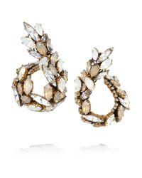 Erickson Beamon | Metallic Whiter Shade Of Pale Goldplated Swarovski Crystal Earrings | Lyst