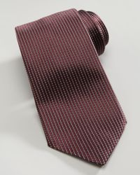 Ermenegildo Zegna - Red Microneat Silk Tie Burgundy for Men - Lyst