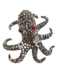 Kenneth Jay Lane | Metallic Octopus Pin | Lyst
