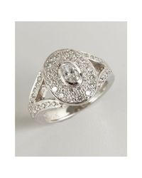 Kwiat | White Platinum Gold and Diamond Rox Oval Ring | Lyst