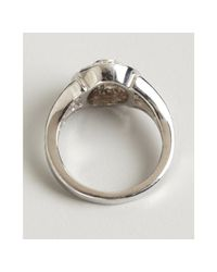 Kwiat - White Platinum Gold and Diamond Rox Oval Ring - Lyst