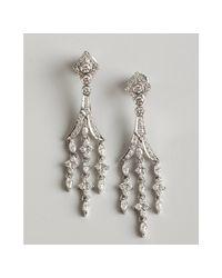 Kwiat - White Gold and Diamond Chandelier Earrings - Lyst