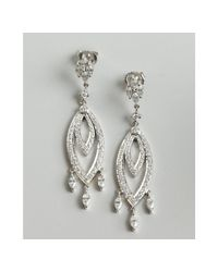 Kwiat - White Gold and Diamond Chandelier Marquis Earrings - Lyst