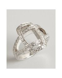 Kwiat | White Gold and Diamond Solaris Crossover Ring | Lyst