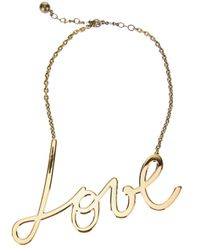 Lanvin | Metallic Love Chain Necklace | Lyst