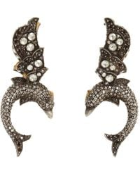 Sevan Biçakci | Yellow Diamond Flying Dolphin Earrings | Lyst