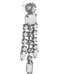 Tom Binns - White Carte Blanche Swarovski Crystal Drop Earrings - Lyst