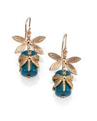 Tory Burch | Blue Dragonfly Drop Earrings | Lyst