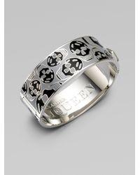 Alexander McQueen | Metallic Medium Skull Cuff Bracelet | Lyst