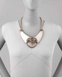 Alexis Bittar - Metallic Neo Boho Large Labradorite Lucite Bib Necklace - Lyst