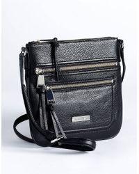 Calvin Klein | Black Pebbled Leather Crossbody Bag | Lyst
