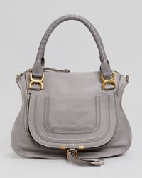 Chloé - Gray Marcie Medium Satchel Bag - Lyst
