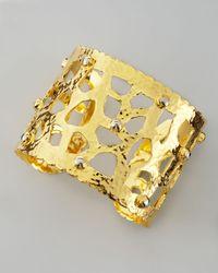 Dina Mackney - Metallic 18k Gold Cutout Cuff Bracelet - Lyst