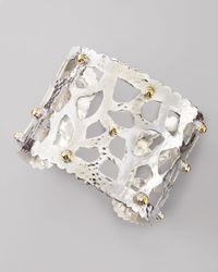 Dina Mackney | Metallic Sterling Silver Cutout Cuff Bracelet | Lyst