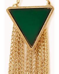 Forever 21 | Green Boho Triangle Drop Earrings | Lyst