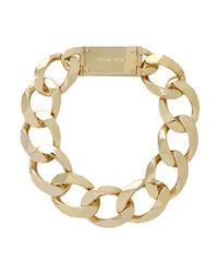 Michael Kors - Metallic Oversize Chain Collar Necklace - Lyst